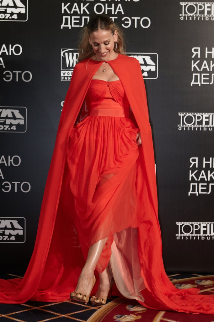 Sarah Jessica Parker poses at a screening of I Don't Know How She Does It in Moscow.