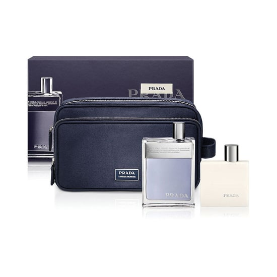 The Prada Amber Pour Homme Gift Set ($85) includes the classic fragrance, shave balm, and a travel pouch. The lingering scent — a blend of bergamot, patchouli, vanilla, saffron, and suede — is one that will keep you both close this season.