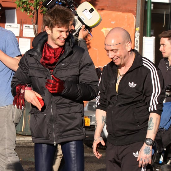 Andrew Garfield Fighting Paul Giamatti on Spider-Man 2 Set