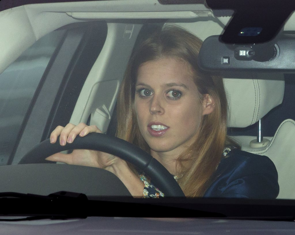 Princess Beatrice drove herself home after the lunch.