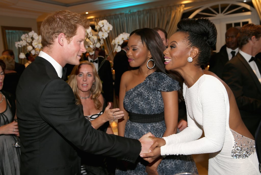 Prince Harry Mingles With Ladies and Mentions His Mom at a Gala