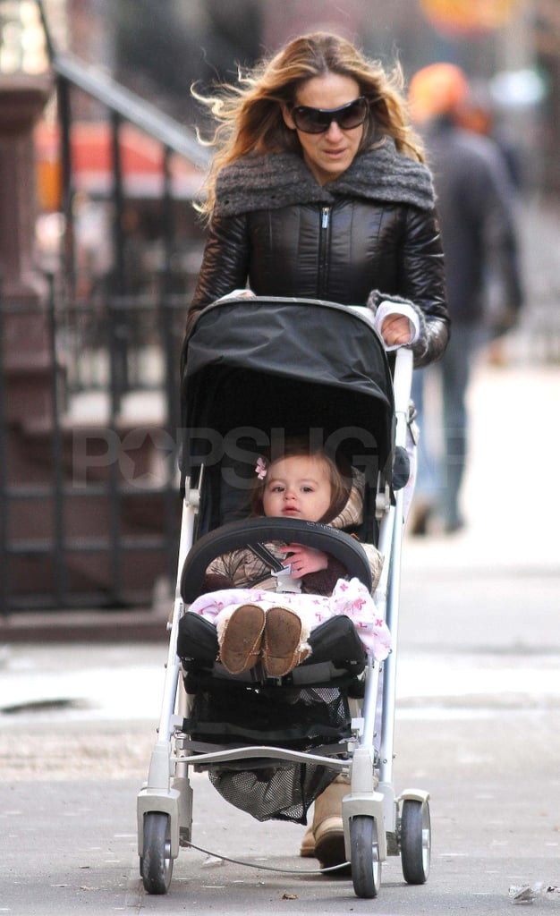 SJP Has a Twin and James Wilkie by Her Side For a Stroll