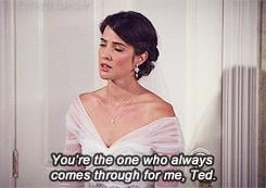 Even though Robin takes the gesture as a sign that Ted might be the guy for her when she finds out about the locket.
