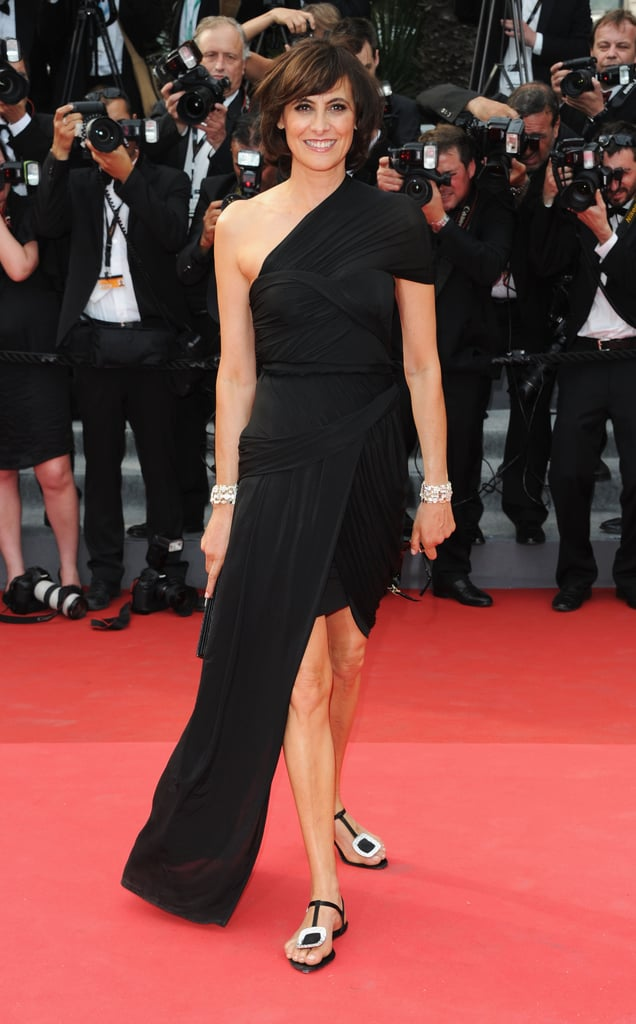 Ines de la Fressange in custom Carven