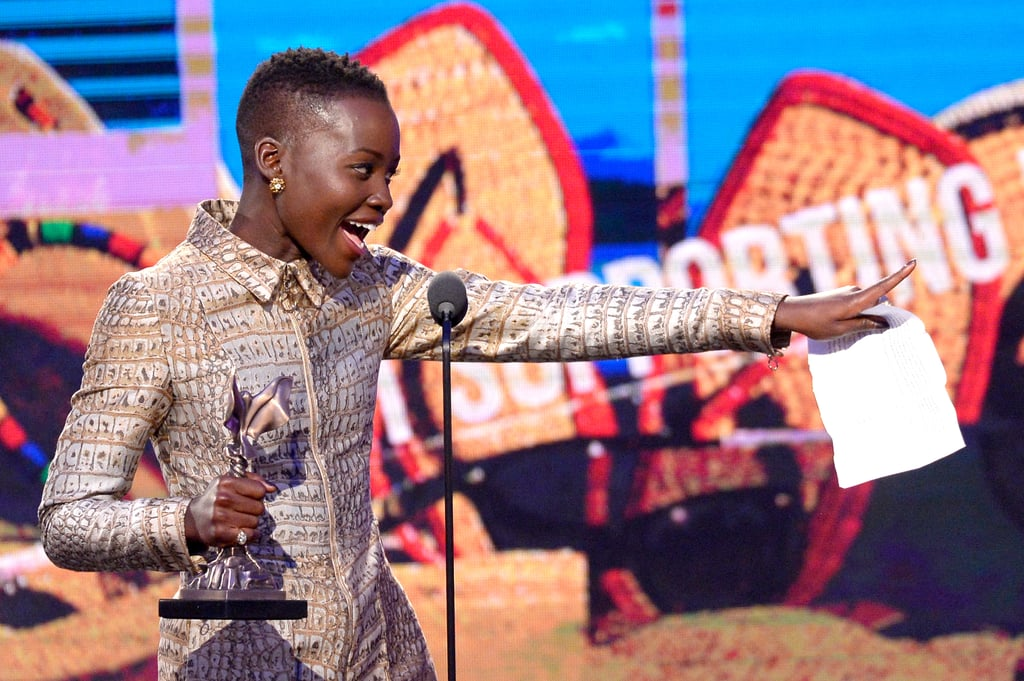 Lupita Nyong'o took the stage after she won the best supporting female award.