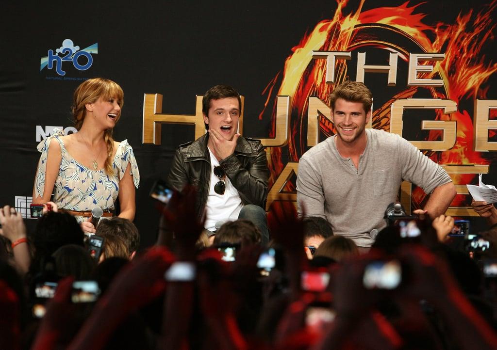 Jennifer Lawrence, Josh, and Liam Kick Off Hunger Games Tour in LA