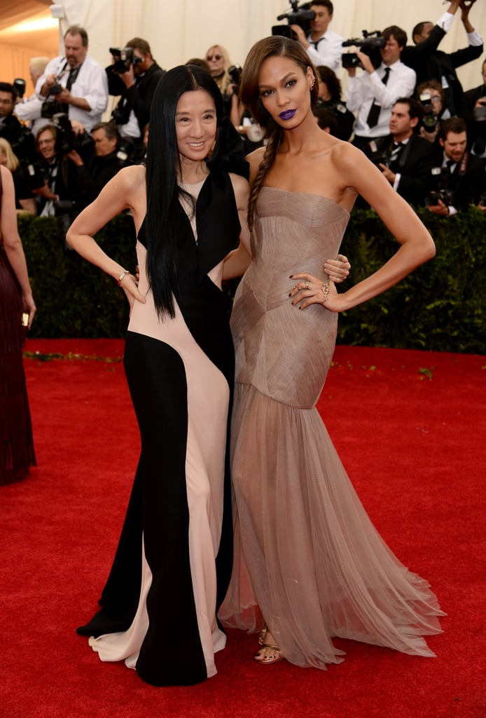 Vera Wang and Joan Smalls at the 2014 Met Gala