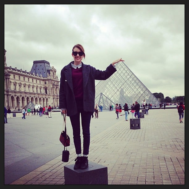 Emma Roberts had some fun taking tourist-type photos while in Paris for Haute Couture Fashion Week. Source: Instagram user emmaroberts6
