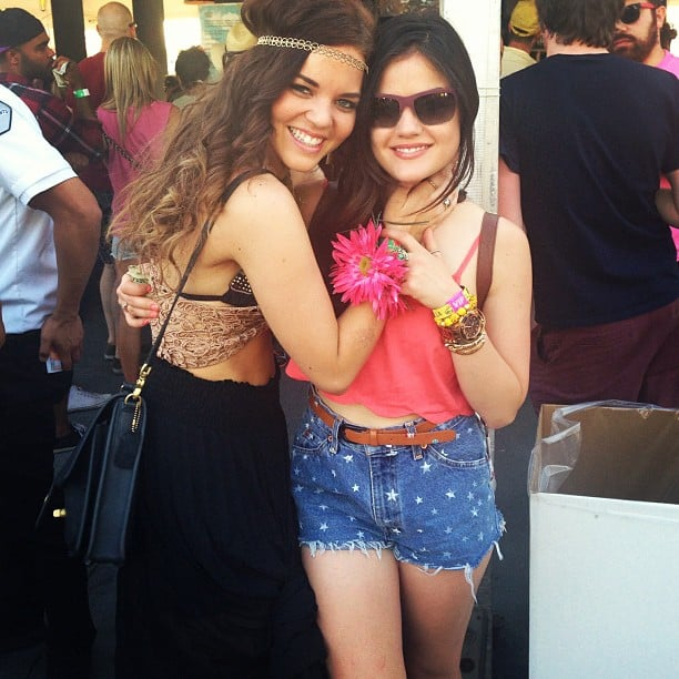 Lucy Hale shared some pretty snaps from Coachella. Check out our full celebrity gallery from the festival! Source: Instagram user lucyhale89