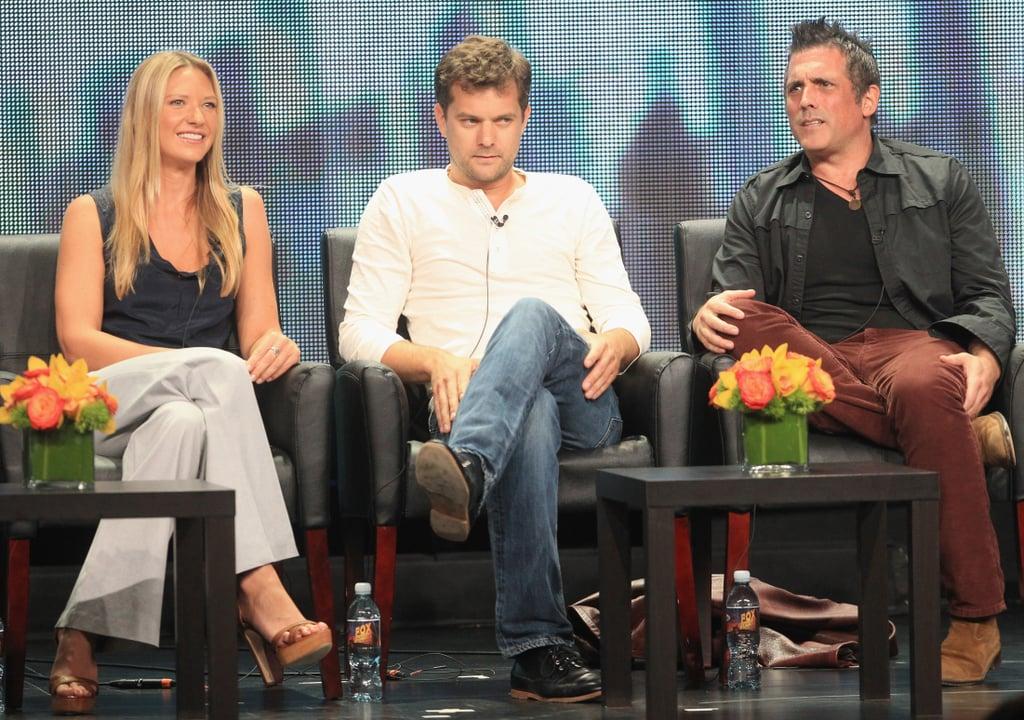 Joshua Jackson and Anna Torv sat with their executive producer.
