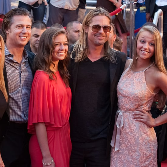 Brad Pitt With Family at World War Z NYC Premiere
