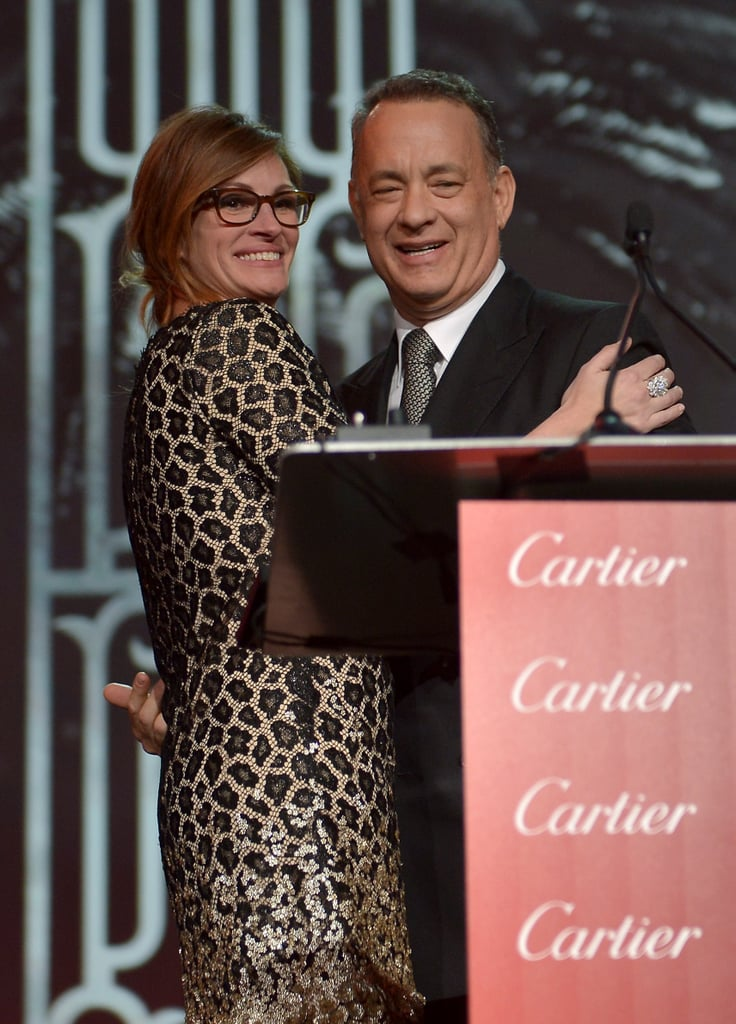 Tom Hanks' friend and former co-star, Julia Roberts, presented him with his chairman's award.