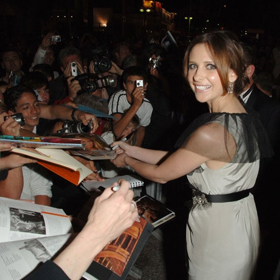 Sarah Michelle Gellar signed autographs during the 2006 Cannes Film Festival, where she premiered Southland Tales.