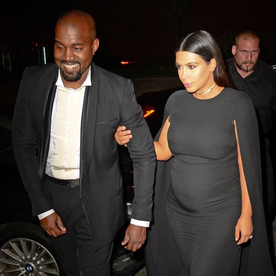 Kim Kardashian's Black Valentino Cape Dress