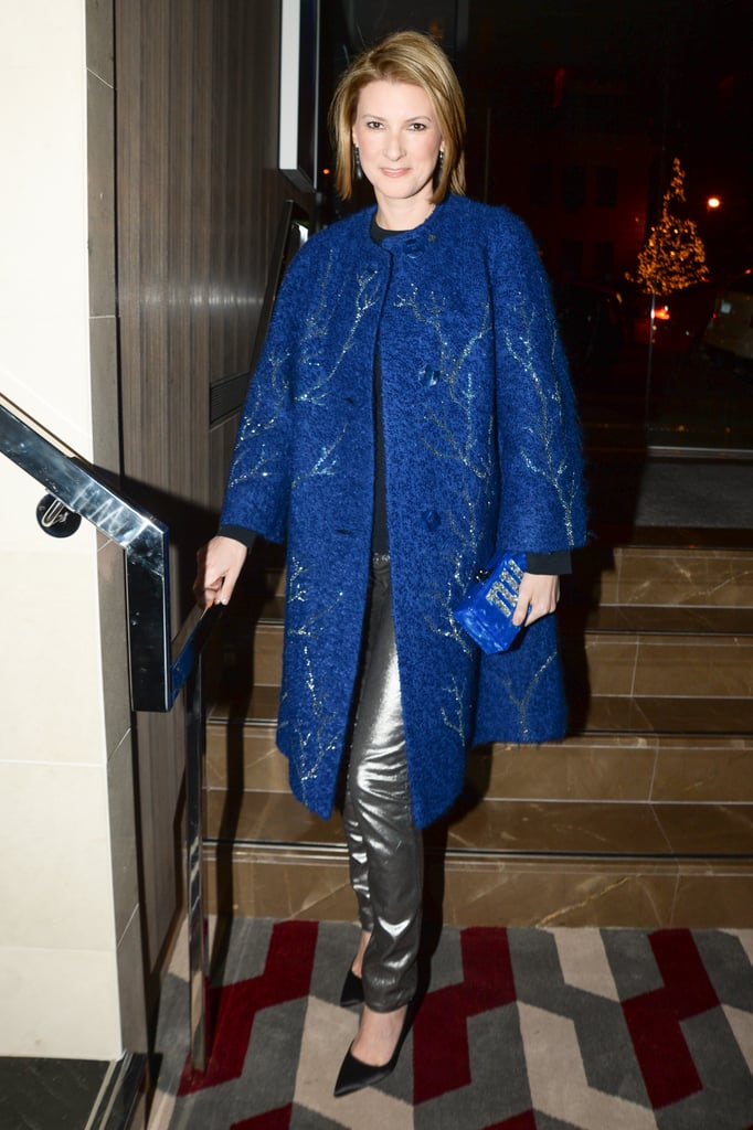 Lizzie Tisch at the Bloomingdale's Super Bowl kickoff with the CFDA.