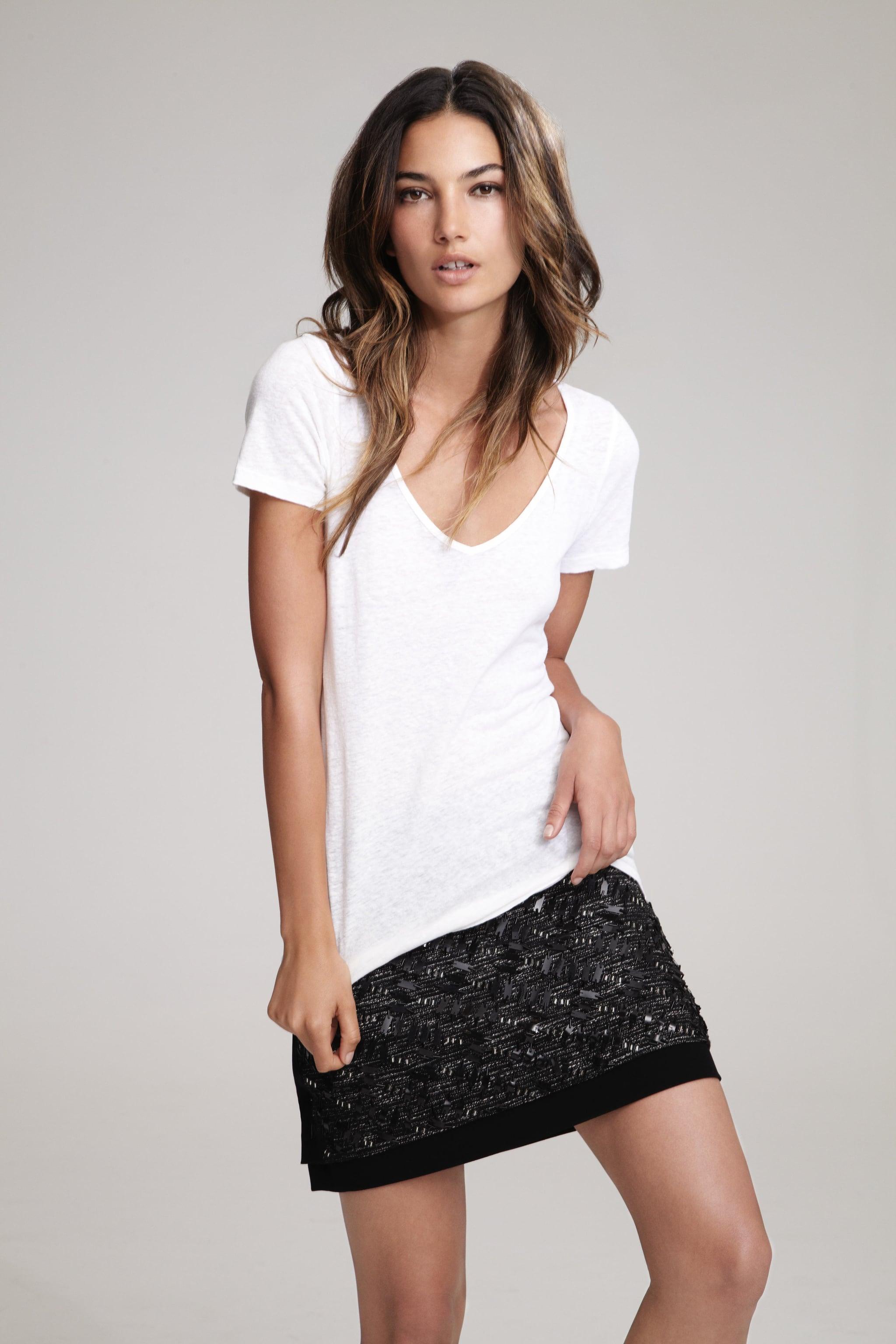 Lily Aldridge For Velvet Michaeline Cotton Hemp T-Shirt ($77) Source: Courtesy of Velvet