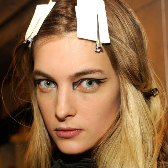 If you're looking to really have fun with this trend, add some graphic lines to the mix. Use this Altuzarra A/W 2012 look for inspiration. Tip: if you're trying to emulate this style, a precision pen-style eyeliner is your best bet. We like Bourjois Felt Tip Eyeliner ($24) and don't worry if you make any mistakes, just use the Simple Kind To Eyes Eye Makeup Corrector Pen ($11.99) for a quick fix. Stockists: Westfield