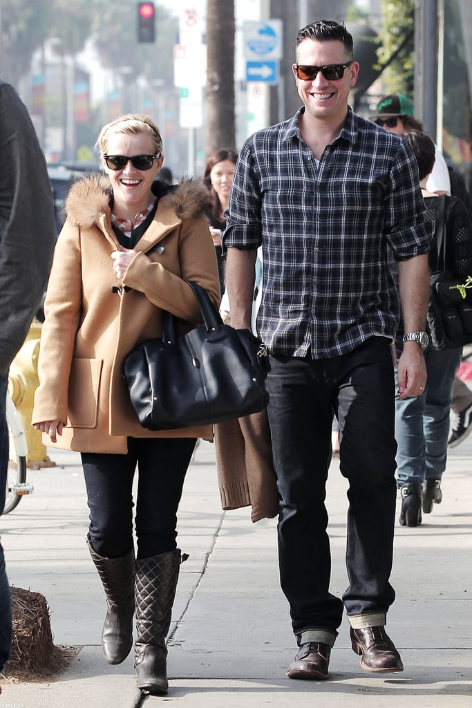 Reese Witherspoon enjoyed a day out in LA with her husband, Jim Toth, in December 2012.