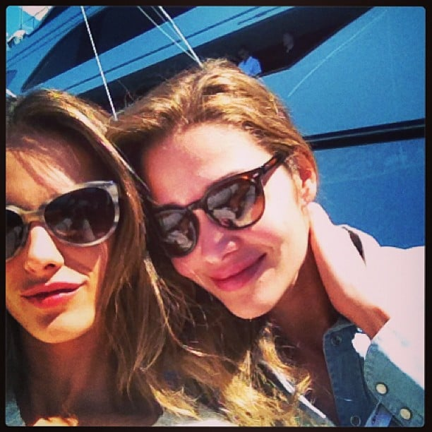 Alessandra Ambrosio and Ana Beatriz Barros took a boat trip together during the Cannes Film Festival. Source: Instagram user alecambrosio