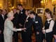 One Direction's Niall Horan met the queen at Buckingham Palace in March 2014.