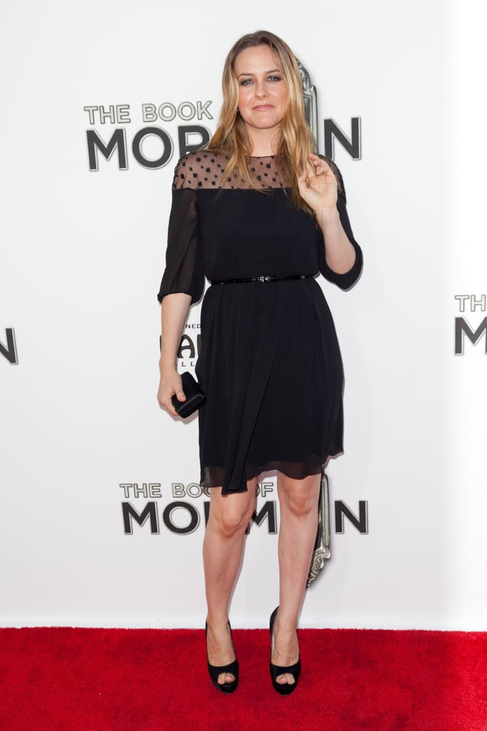 Alicia Silverstone hit the red carpet for The Book of Mormon.