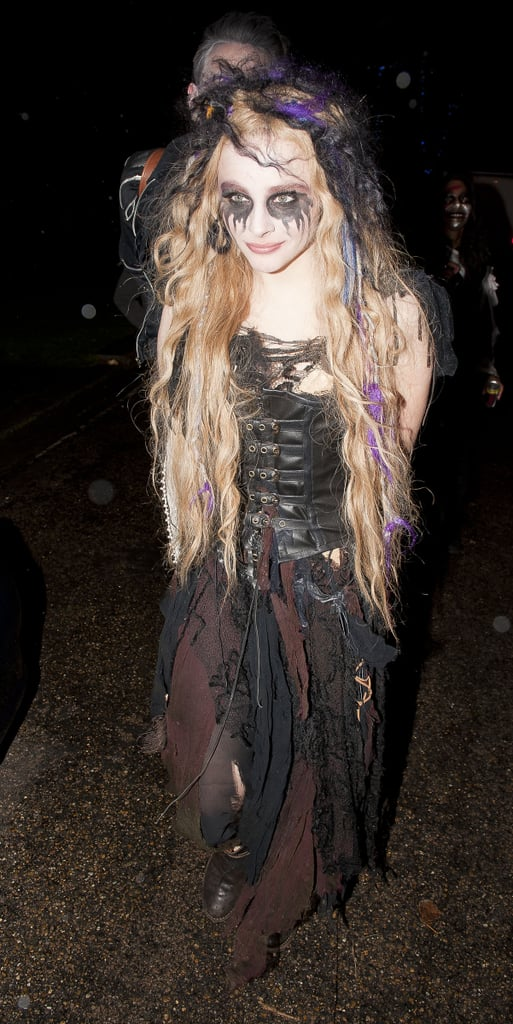 Chloë Grace Moretz let her goth side come out in full force at the Jonathan Ross Halloween party in 2012.