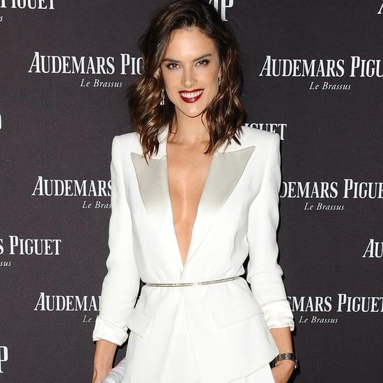 Alessandra Ambrosio Wears White Pantsuit on Red Carpet