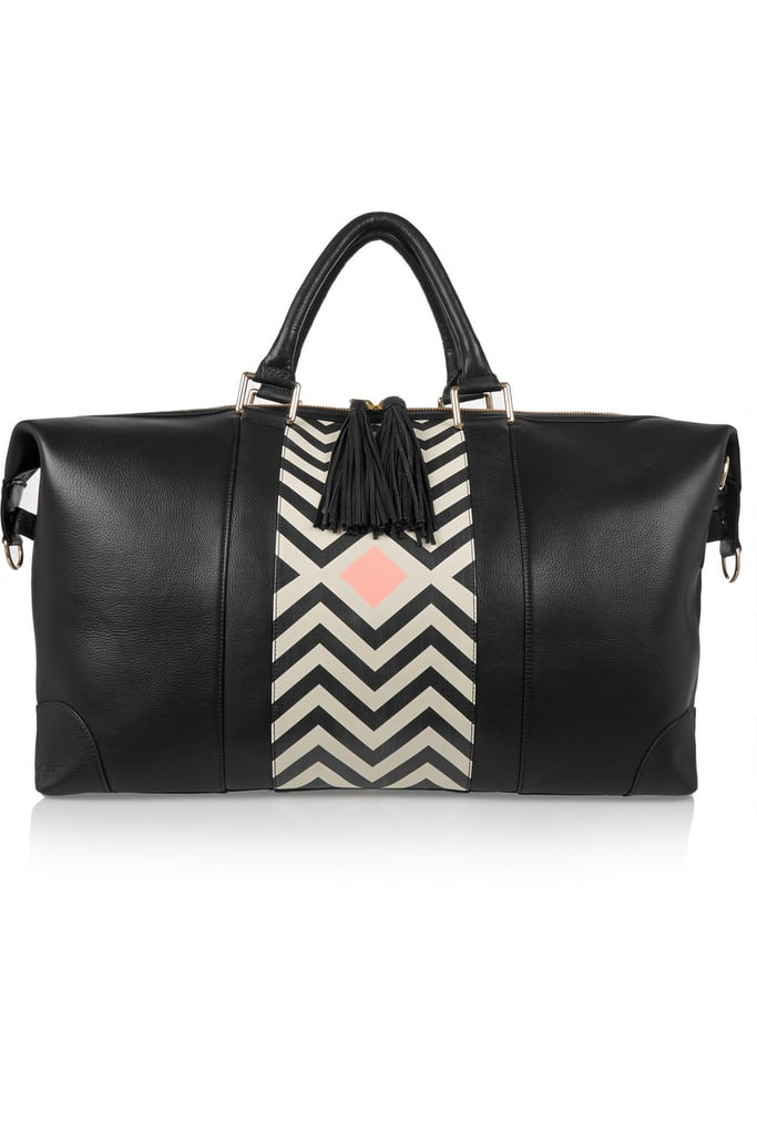 Getting out of town will be infinitely more stylish with this Eddie Harrop weekend bag ($1,235) in tow.