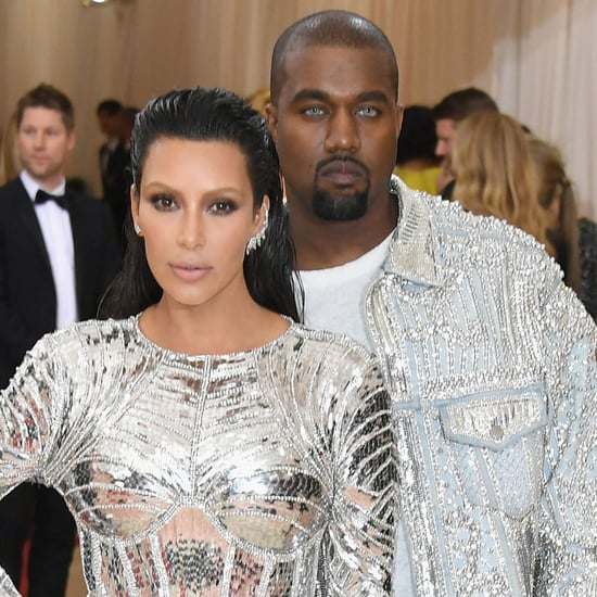 Kim Kardashian and Kanye West at the 2016 Met Gala