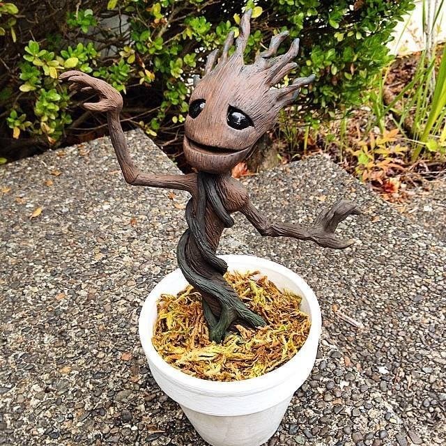 This Groot wasn't made by Patrick, but is another incredible example of homemade Groots taking over the world! . . . We'd like for them to take over the world, anyways.  Source: Reddit user theoopst via Imgur