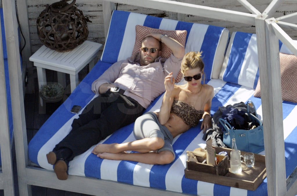 Jason and Rosie relaxed at their poolside cabana.