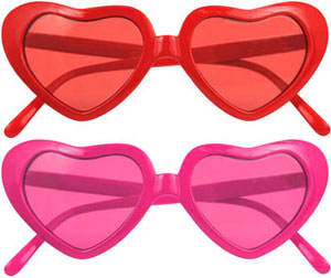 Simply Fab: Fred Flare Heart Sunglasses