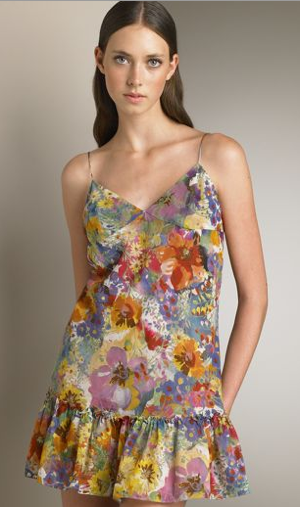 Guess Who Designed This Flirty Floral Dress?