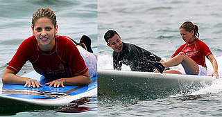 SMG and Freddie Hit the Waves Surfing