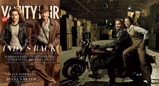 Shia and Harrison's Indiana and The VF Cover