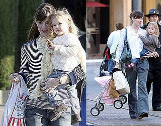 Jennifer Garner and Violet Affleck at the Market