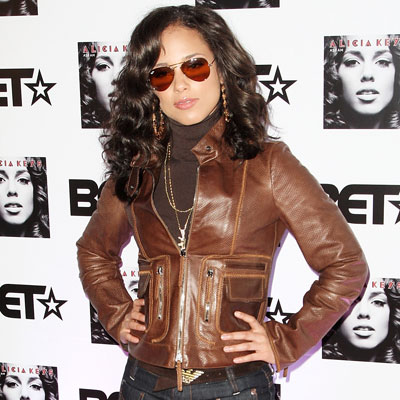 Alicia Keys at the Black Entertainment Television Launch Party in London