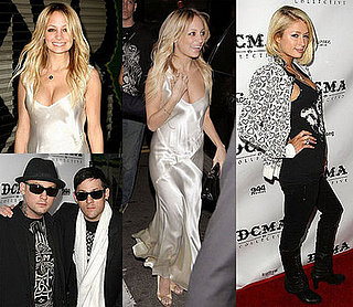 Nicole Richie and Paris Hilton at the DCMA Store Opening