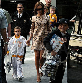 Victoria Beckham Takes Her Sons Shopping in LA