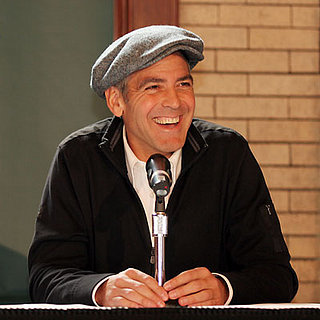 George Clooney at a Leatherheads Press Conferences