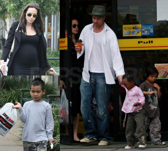 Images of the Jolie-Pitts in Houston