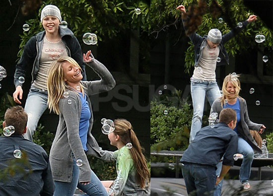 Cameron Diaz and Abigail Breslin on the Set of My Sister's Keeper