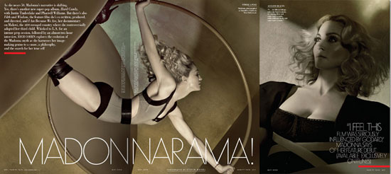 Images of Madonna in Vanity Fair