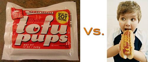 Hot Dogs vs. Tofu Pups