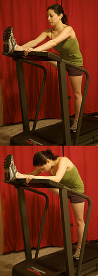 Treadmill Stretch: Hamstring and Lower Back