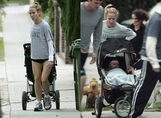 Sheryl Crow Running With Stroller