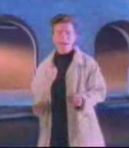 "Pop-Up Video for Rick Astley's ""Never Gonna Give You Up"""