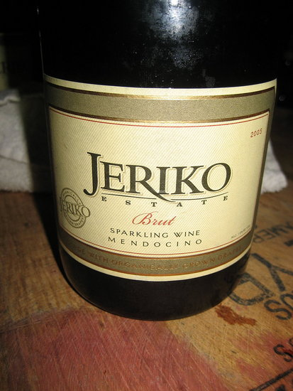 Happy Hour: Jeriko 2005 Brut Sparkling Wine (It's Organic!)