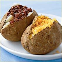 Monday's Leftovers: Chili Baked Potato