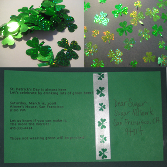 Come Party With Me: St. Patrick's Day — Invite
